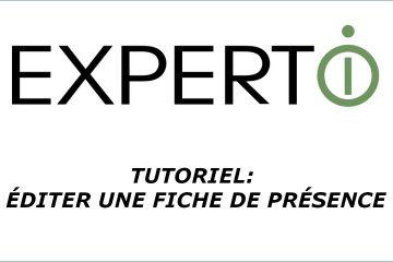 Expert.i • Tutoriel : comment éditer une fiche de présence