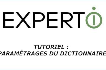 Expert.i • Tutoriel : Paramétrages du dictionnaire