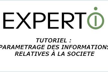 Expert.i • Tutoriel : paramètrage des informations relatives à la société