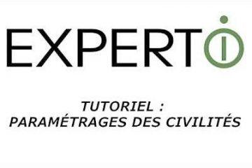 Expert.i • Tutoriel : Paramétrage des civilités